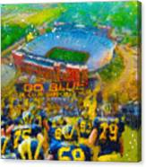 Defending The Big House Canvas Print