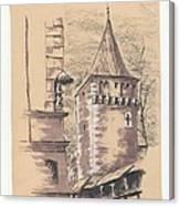 Defensive Bastion Cracow Canvas Print