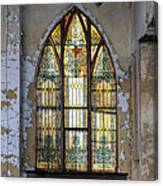 Defiant Stain Glass Church Window #1 Canvas Print