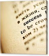 Definition Of Success Canvas Print