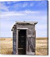 Defunct Outhouse At Rural Elementary School Canvas Print