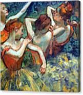 Degas' Four Dancers Up Close Canvas Print