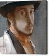 Degas Self-portrait Canvas Print