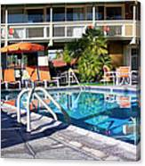 Del Marcos Pool Palm Springs Canvas Print