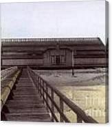 Del Monte Bathhouse From Pier California  Circa 1890 Canvas Print