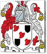Delahay Coat Of Arms Irish Canvas Print