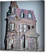 Delapitated Victorian Mansion Canvas Print