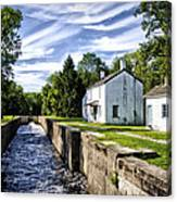 Delaware Canal Kingston New Jersey Canvas Print