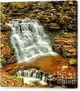 Delaware Falls - Ricketts Glen Canvas Print