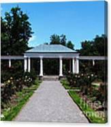 Delaware Park Rose Garden And Pergola Buffalo Ny Oil Painting Effect Canvas Print