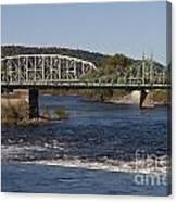 Delaware River Easton Pennsylvania Canvas Print
