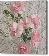 Delicate Pink Flowers Canvas Print