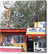 Delgadillo's Snow Cap Drive-in On Route 66 Panoramic Canvas Print