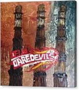 Delhi Daredevils In Delhi Canvas Print
