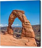 Delicate Arch - La Sal Mountains - Arches National Park - Ut Canvas Print