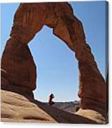 Delicate Arch - Skyview Canvas Print