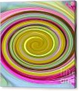 Delicate Pink Twirl Canvas Print
