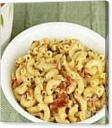 Delicious Macaroni Lunch Canvas Print