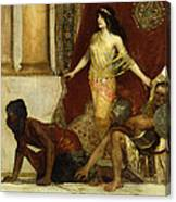 Delilah And The Philistines Canvas Print