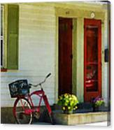 Delivery Bicycle By Two Red Doors Canvas Print