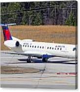 Delta Airlines ERJ-145LR Canvas Print