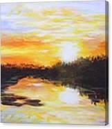 Delta Bayou Sunset Canvas Print