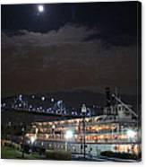 Delta Queen Under A Full Moon Canvas Print