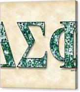 Delta Sigma Phi - Parchment Canvas Print