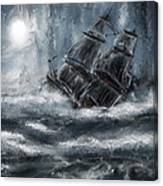 Deluged By The Wave Canvas Print
