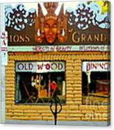 Delusions Of Grandeur Bank St Furniture Art Store On The Glebe Paintings Of Ottawa Scenes C Spandau Canvas Print