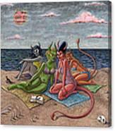 Demon Beaches Canvas Print