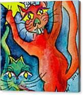 Demon Cats Reach Canvas Print