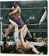 Dempsey V Firpo In New York City Canvas Print
