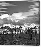 Denali In Clouds Canvas Print