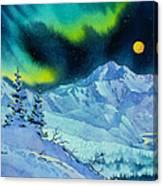 Denali Night In Square Canvas Print