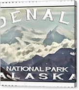 Denali Postage Stamp  Canvas Print