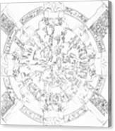 Dendera Zodiac Canvas Print