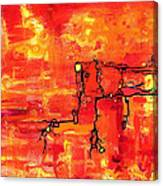 Dendritic Echoes Canvas Print