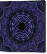 Denim Blues Mandala - Digital Painting Effect Canvas Print