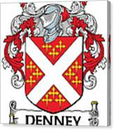 Denney Coat Of Arms Kerry Ireland Canvas Print