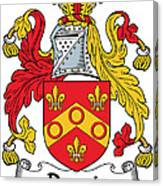 Dennis Coat Of Arms Irish Canvas Print