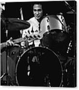 Denny Carmasi On The Drums In 1978 Canvas Print