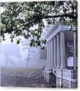 Dense Fog Plymouth Rock Canopy Canvas Print