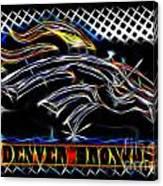 Denver Broncos 3 Canvas Print