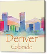 Denver Colorado Skyline II Canvas Print