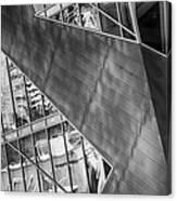 Denver Diagonals Bw Canvas Print