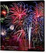 Denver Fireworks Finale Canvas Print