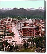 Denver Panorama 1897 Canvas Print