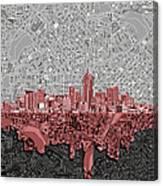 Denver Skyline Abstract 2 Canvas Print
