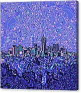 Denver Skyline Abstract 4 Canvas Print